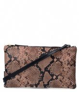 Fred de la Bretoniere Crossbody Medium Snake Printed taupe