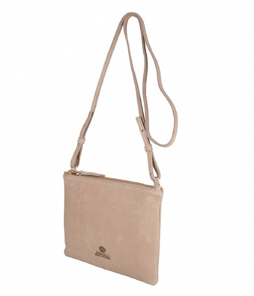 Fred de la Bretoniere Crossbodytas 263010016 Crossbody L Heavy Grain Leather Light Brown