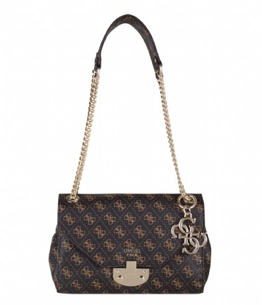 Mia Convertible Crossbody Flap brown Guess | The Little