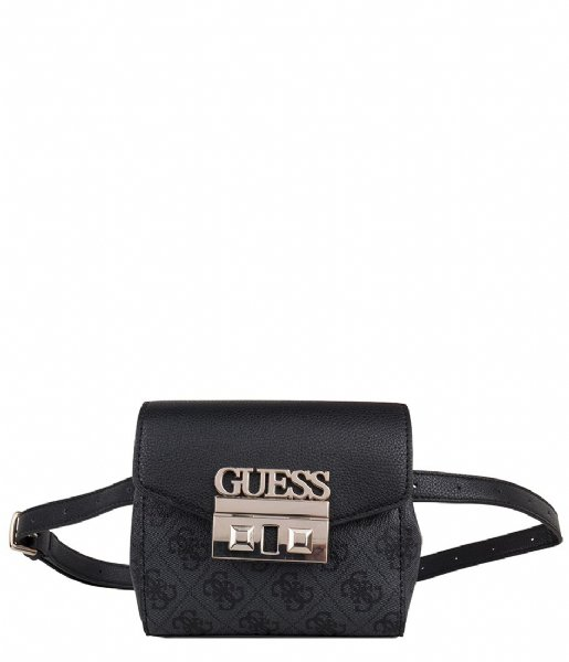Logo Luxe Belt Bag coal Guess | The Little Green Bag