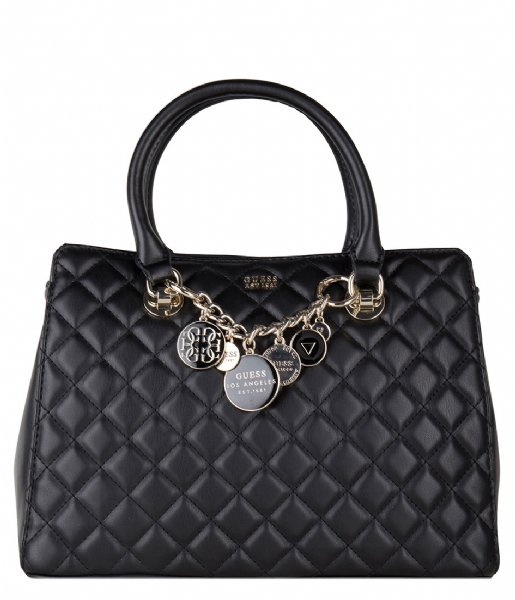 Victoria Luxury Satchel black Guess   The Little Green Bag
