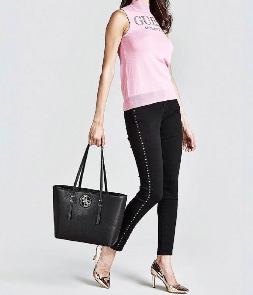Open Road Tote black Guess | The Little Green Bag