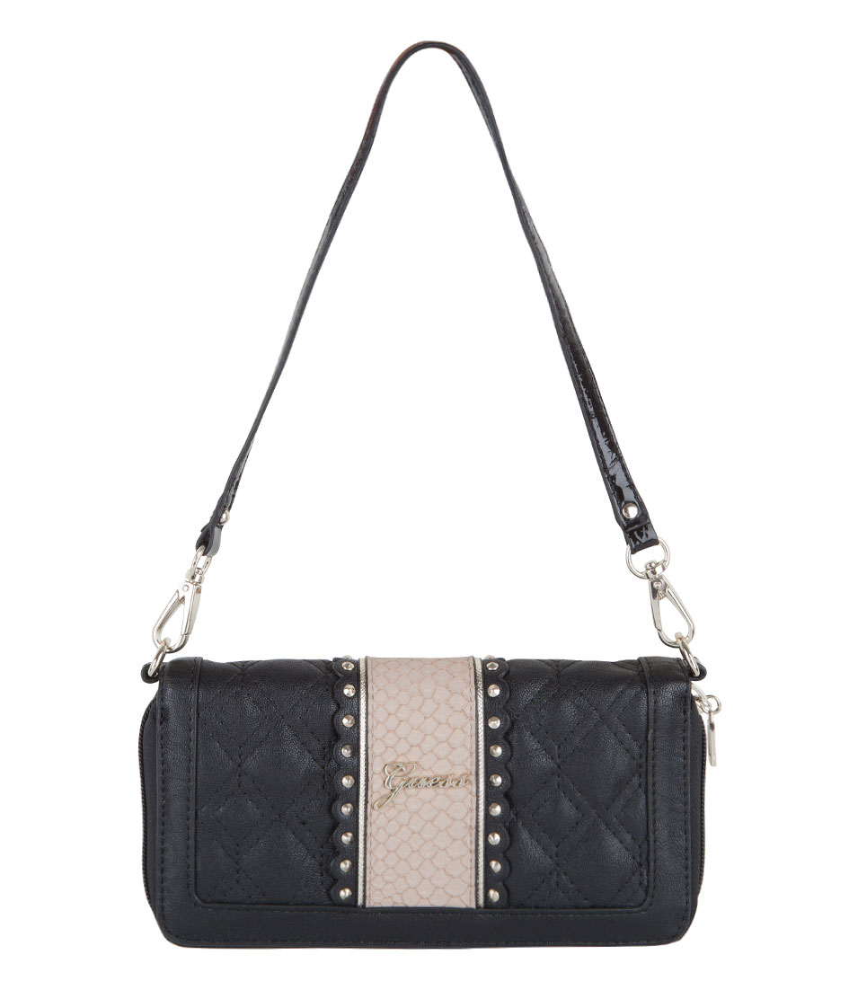 46103daeb62 Miss Social Zip Around black Guess | The Little Green Bag