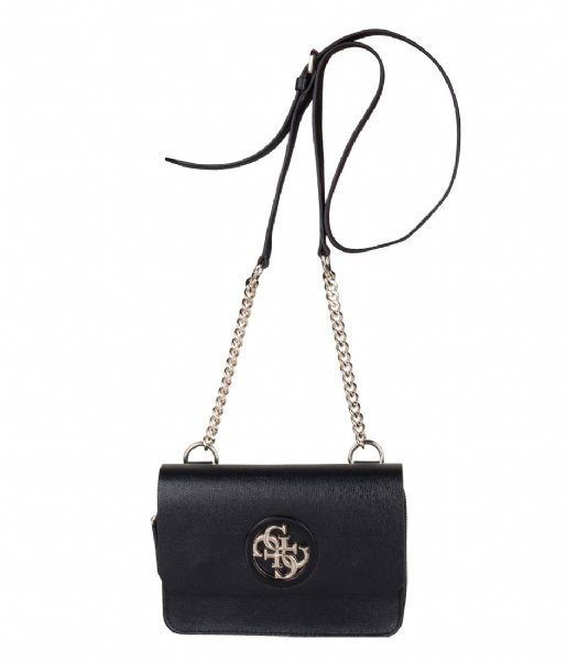 Open Road Mini Crossbody Flap black Guess | The Little Green Bag