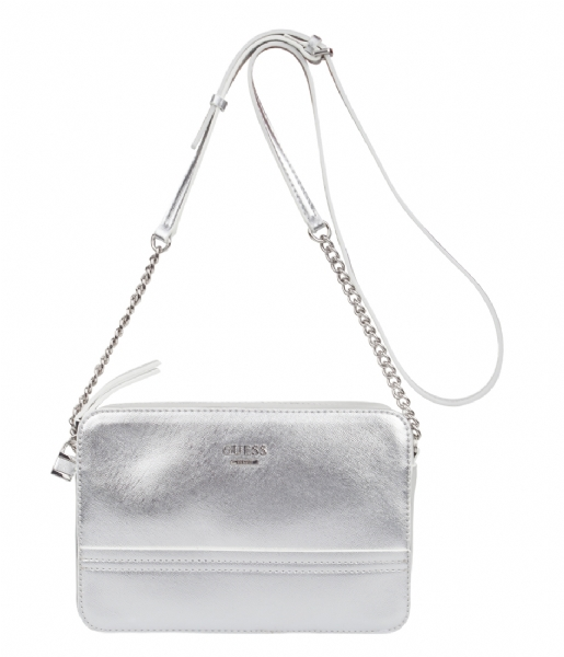 dfb0a8c08aa02 Devyn crossbody top zip silver guess the little green bag jpg 515x600 Guess  silver bag