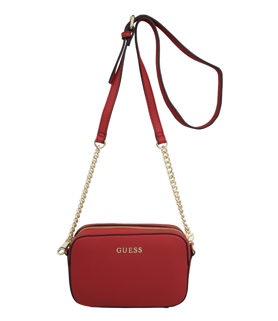 Isabeau Mini Crossbody red Guess | The Little Green Bag