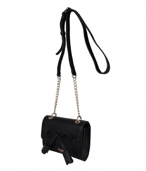 Leila Mini Crossbody Flap Black Guess | The Little Green Bag