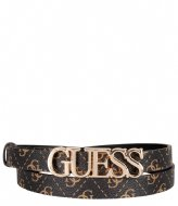 Guess Noelle Adjustable Pant Belt Brown