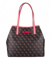 Guess Vikky Tote brown / neon pink