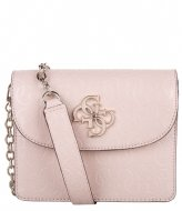Guess Chic Shine Mini Crossbody Flap blush