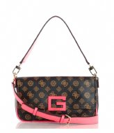 Guess Brightside Shoulder Bag brown multi