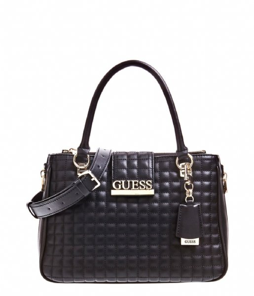 Guess Handtas Matrix Luxury Satchel black