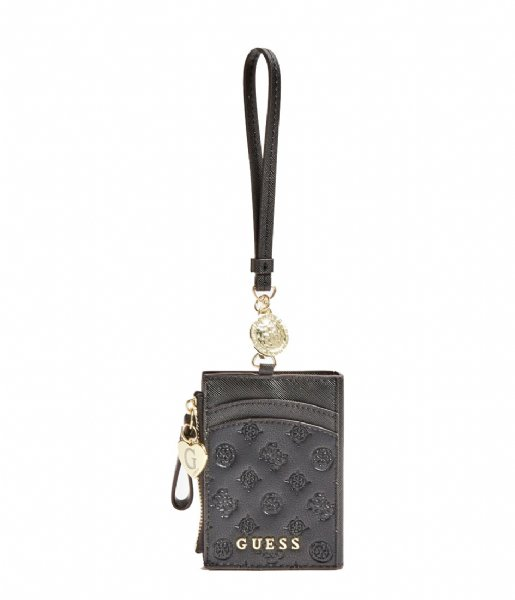 Guess Pasjes portemonnee Card Case With Keyring black
