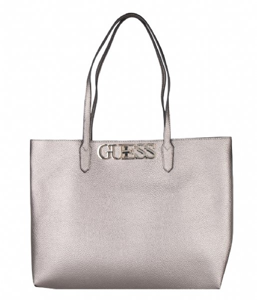 Guess Schoudertas Uptown Chic Barcelona Tote pewter