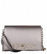 Guess Uptown Chic Mini Crossbody Flap pewter
