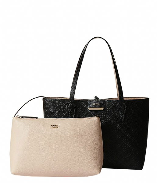 Bobbi Inside Out Tote blacknude Guess | The Little Green Bag