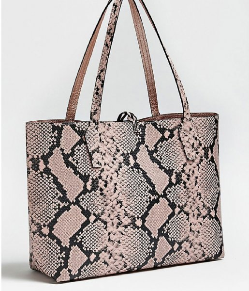 Bobbi Inside Out Tote blush python rose Guess | The Little
