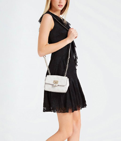 Downtown Cool Mini Crossbody Flap stone Guess   The Little