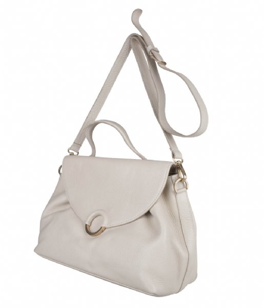 Fred de la Bretoniere Handtas Shoulderbag M Soft Grain Leather off white