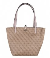 Guess Alby Toggle Tote brown/blush