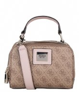 Guess Candace Mini Crossbody brown multi