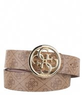 Guess Candace Pant Belt brown