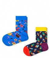 Happy Socks Kids 2 Pack Space Cat Socks space cat (6300)