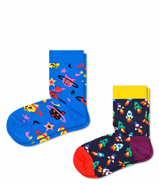 Happy Socks Sokken Kids 2 Pack Space Cat Socks space cat (6300)