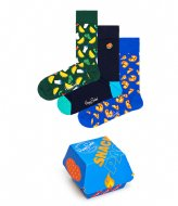 Happy Socks 3-Pack Junk Food Gift Box junk food (0100)