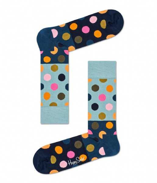 Happy Socks Sokken Big Dot Block Socks big dot black (6002)