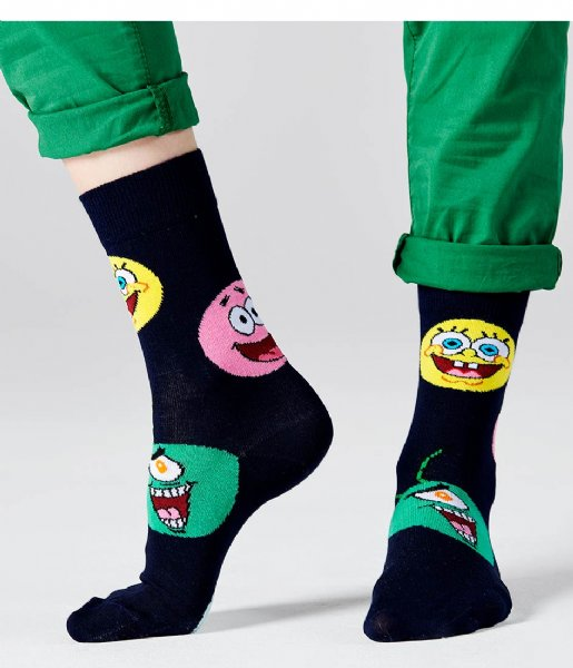Happy Socks Sokken Sponge Bob Circle Of Friends Socks sponge bob circle of friends (6400)