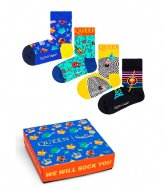Happy Socks Kids Queen 4-Pack Gift box queen (0100)