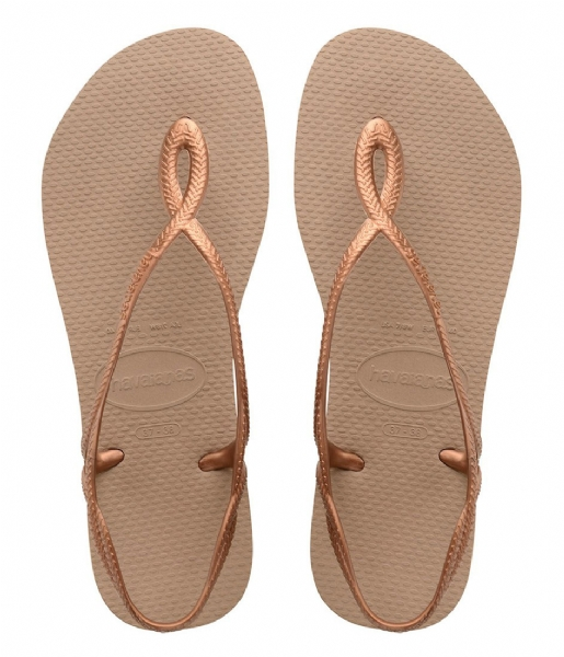 Havaianas Slippers Flipflops Luna rose gold colored (5282)