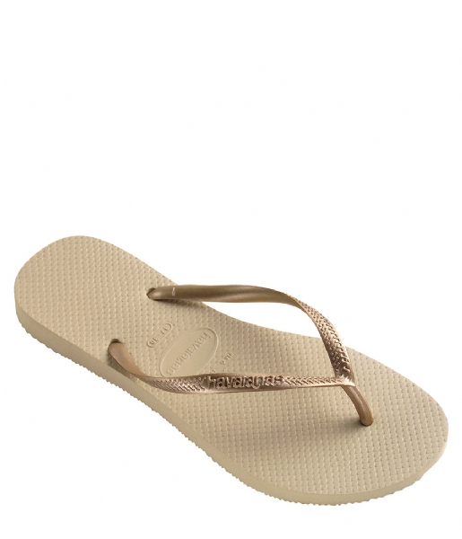 Havaianas Slippers Kids Flipflops Slim sand grey light golden (2719)