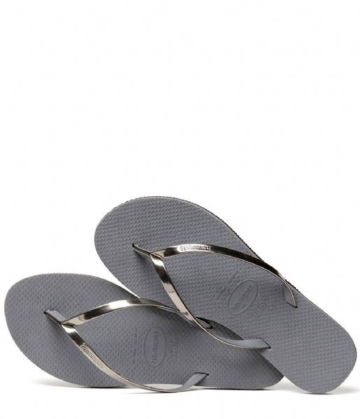 Havaianas Slippers Flip Flops You Metallic steel grey (5178)