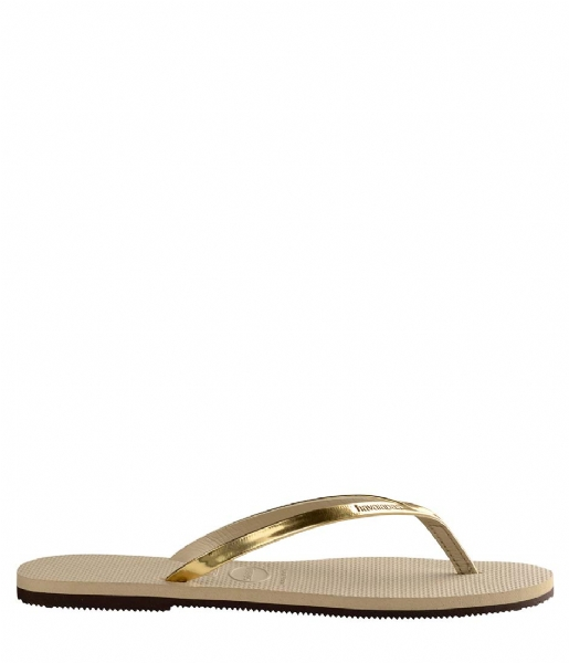 Havaianas Slippers Flip Flops You Metallic sand grey (2719)