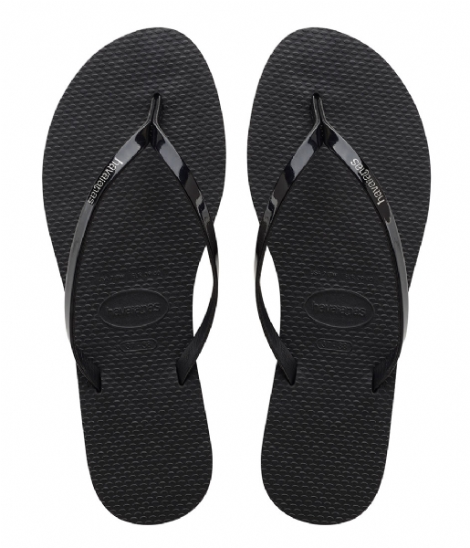 Havaianas Slippers Flipflops You Metallic black (0090)