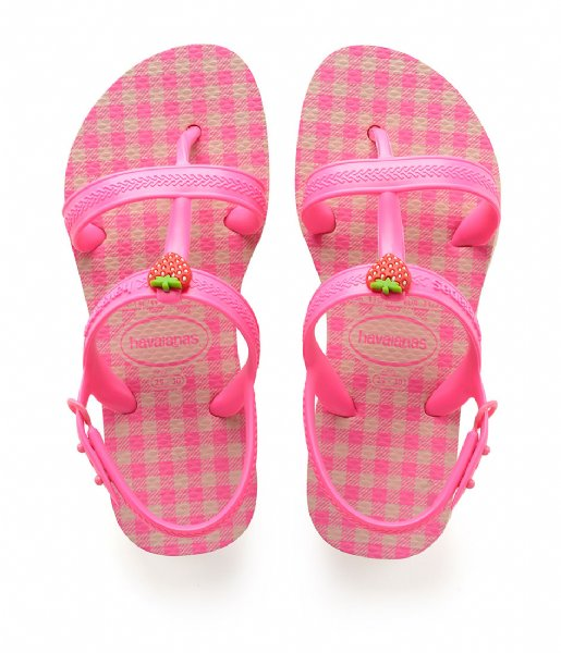 Havaianas Slippers Kids Flipflops Joy Spring ballet rose shocking pink fluor (1250)