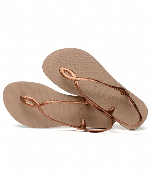 Havaianas Slippers Kids Flipflops Luna rose gold rose gold colored (5282)