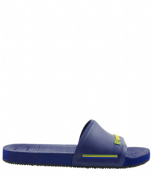 Havaianas Slippers Flipflops Slide Brasil navy blue (0555)