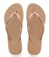 Havaianas Flipflops Slim Logo Metallic rose gold colored (5282)