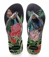 Havaianas Flipflops Slim Tropical black graphite (1164)