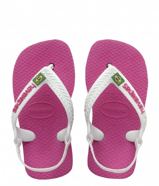 Havaianas Slippers Baby Flipflops Brasil Logo hollywood rose (0064)