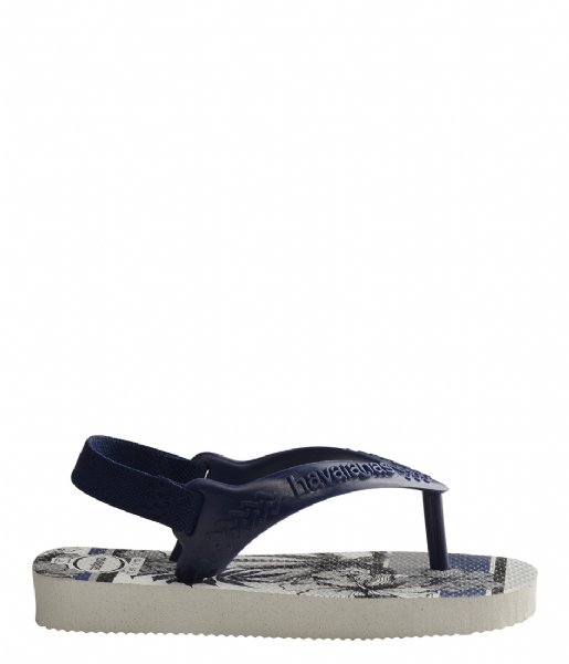 Havaianas Slippers Flipflops Baby Chic II white navy blue (0052)