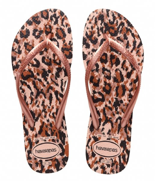 Havaianas Slippers Flipflops Kids Slim Animals ballet rose (0076)