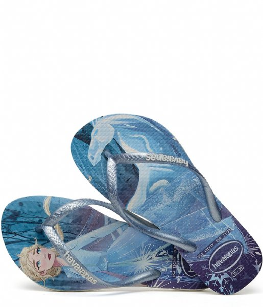 Havaianas Slippers Flipflops Kids Slim Frozen white snowflakes (4376)