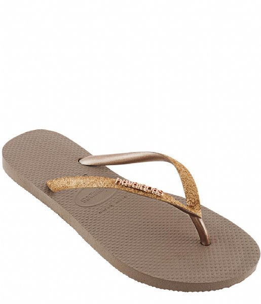 Havaianas Slippers Flipflops Kids Slim Shiny rose gold (3581)