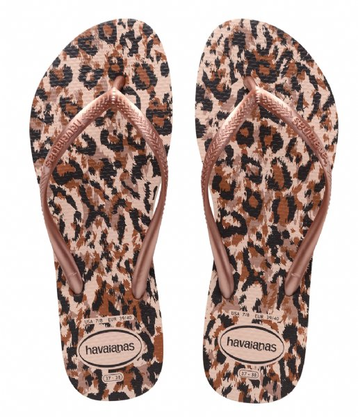Havaianas Slippers Flipflops Slim Animals ballet rose (0076)