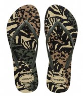Havaianas Flipflops Slim Animals grey green olive (7807)