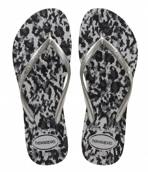 Havaianas Slippers Flipflops Slim Animals grey silver ice grey (3499)